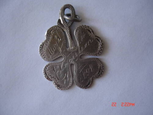 1898 ANTIQUE STERLING SILVER CHARM ALICE COBB WRENN TEX