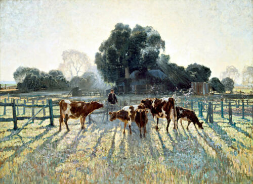 Canvas Prints.  Spring Frost - By Elioth Gruner - Framed & Ready to Hang