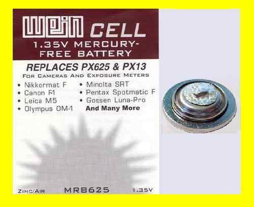 BATTERIE ZINCO/ARIA 1,35 V WeinCell MRB 625 - RICAMBIO PX 625 PX13 MR9