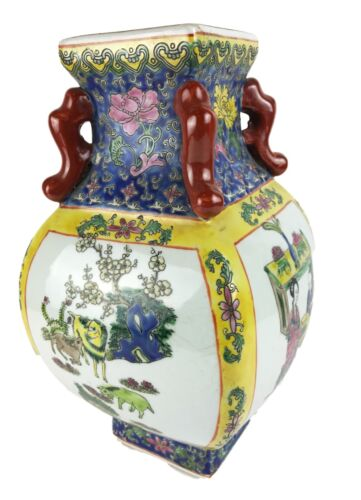 """Superb Chinese Hand Painted Porcelain vase 12.5"""" H"""
