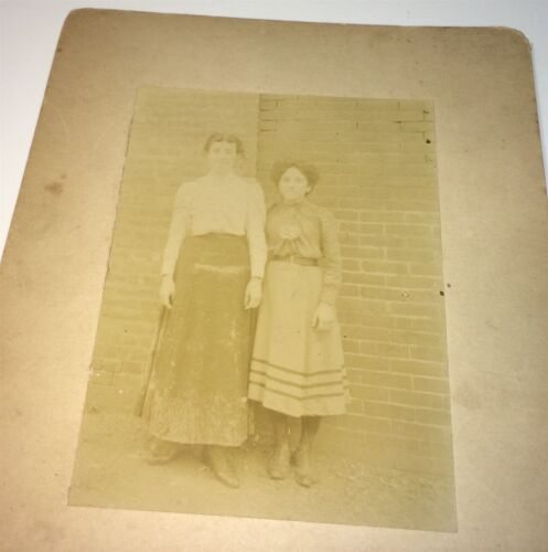 Antique Victorian American Fashion Pease Family Girls! Yonkers, NY Cabinet Photo