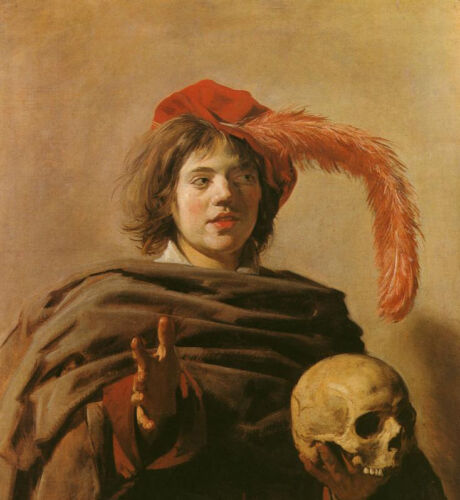 Dream-art Oil painting Netherlands Frans Hals - Young Man with a Skull canvas