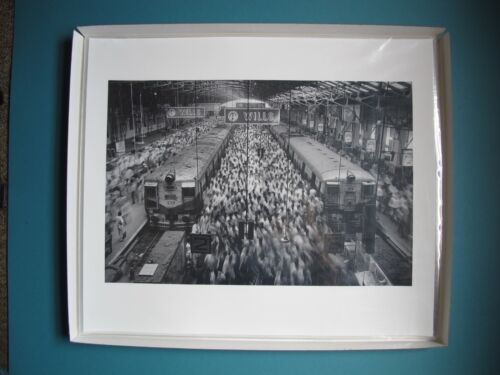 Sebastiao Salgado.(SIGNED).Church Gate Station,India.1995.MINT.