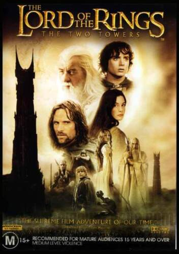 THE LORD OF THE RINGS: THE TWO TOWERS - BRAND NEW & SEALED 2-DISC DVD (REGION 4)