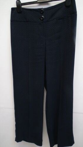 Next Navy Blue Patterned Formal Trouser size 12R
