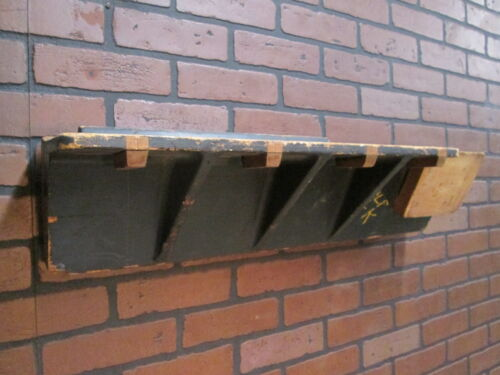 """Vintage Industrial Wooden Foundry Mold 30"""" by 6 1/2""""  Industrial Wall Shelf"""