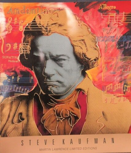 """STEVE KAUFMAN - """"BEETHOVEN IN GOLD""""   POSTER    NEW"""