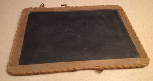 Antique Schoolhouse Chalkboard Slate Wrapped Edges Intact