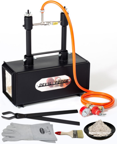 DFPROF2 GAS PROPANE FORGE Furnace Burner Knife Making Blacksmith U.S.A <br/> FAST DELIVERY via FEDEX. Ready to use in the USA!