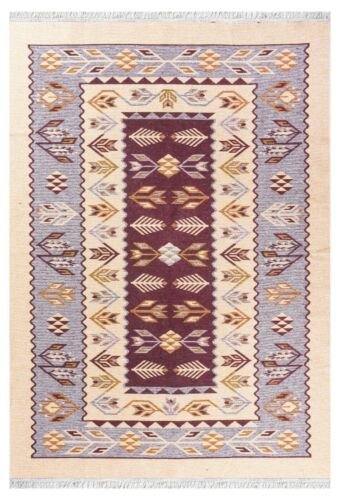 Limited Time Promotional Traditional Kilim High Quality Beige / Burgundy Rug