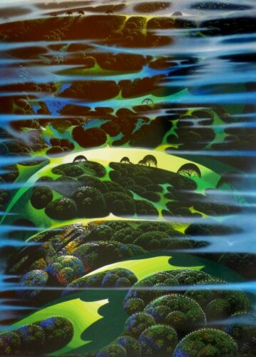 """Eyvind Earle """"As Far As I Could See"""" Hand signed numbered Serigraph 1997"""