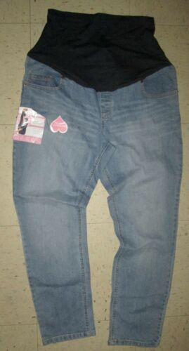 Great Expectations Ankle Lgth Fit to Flatter Maternity Denim Jeans Sz L 12-14