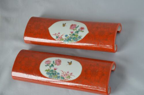 A pair Chinese Famille Rose Porcelain paperweight