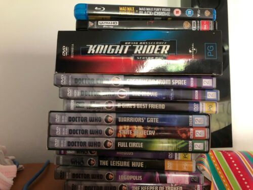Assorted DVDs, Blu-rays, 3D & 4K