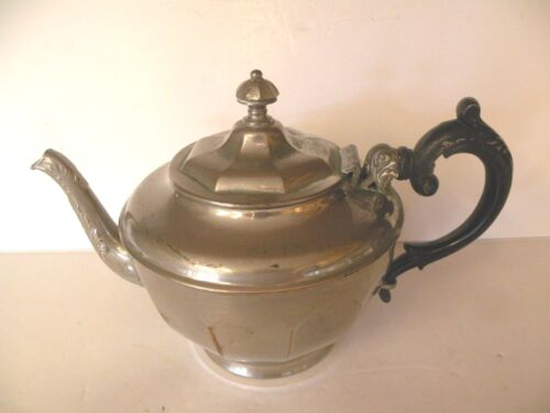 MANNING BOWMAN QUALITY TEAPOT WITH SPOUT STRAINER SILVER-PLATED COPPER VINTAGE