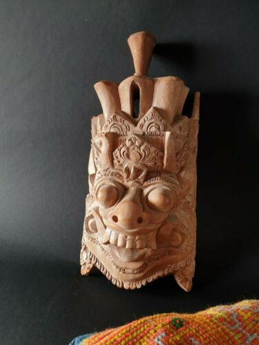 Old Balinese Carved Wooden Theater Mask / Wall Hanging …beautiful collection ite