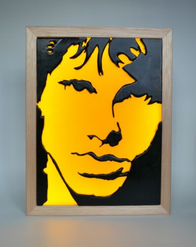 The Doors Jim Morrison Limited Edition Wax Painting Light Box