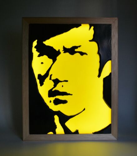Bruce Lee Game Of Death Kung Fu Movies  Wax Painting Light Box