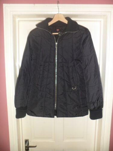 Ladies Diesel Black Quilted Coat Size Small