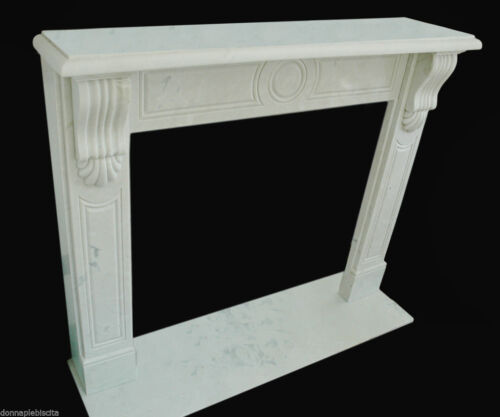 Camino Marmo bianco Stile Impero Marble Fireplace Handmade Vintage Empire Style