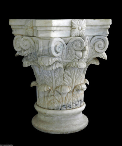 Capitello Marmo Bianco Antique Classic Vintage White Marble Classic Capital
