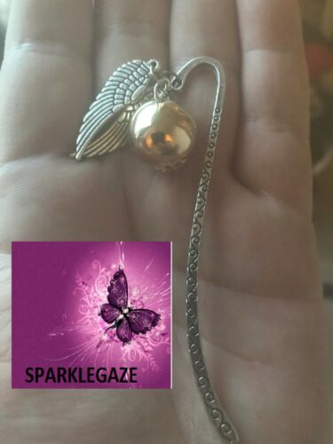 BRAND NEW 2020 HARRY POTTER GOLDEN SNITCH SILVER METAL BOOKMARK AUS SELLER