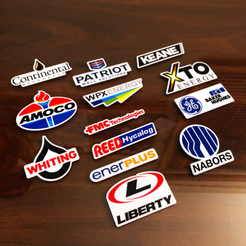 """2for1 Standard Oil Co Rusty Vintage look distressed Vinyl Decal Sticker 3.5/"""""""