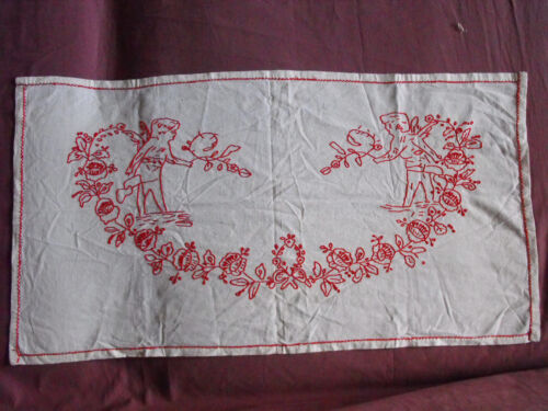 #1355  Beautiful  Vintage Hand Embroidered Tapestry  85cm/45cm(33''x18'')