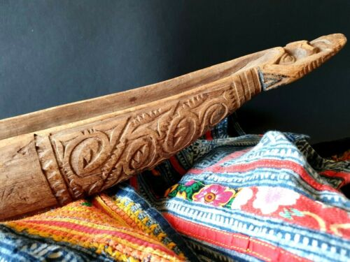 Old Papua New Guinea Sepik River Carved Wooden Canoe …beautiful collection piece