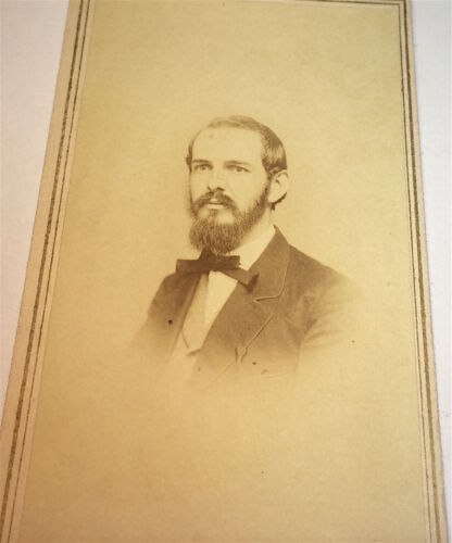 Antique Victorian American Dapper Fashion Gent, Beard! Utica, New York CDV Photo