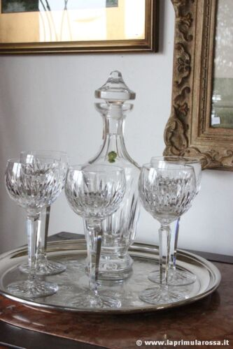 WATERFORD CRYSTAL SET VINTAGE DI 5 BICCHIERI CALICE IN CRISTALLO + DECANTER