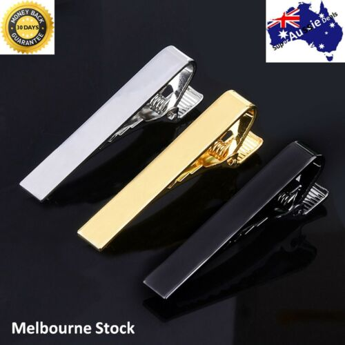 Mens Gold Silver Black short Slim Tie Pin Clip Clasp Bar office Christmas dad