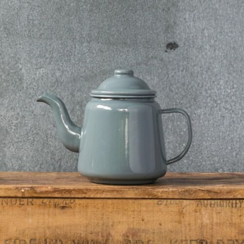 Falcon enamel teapot 900ml, grey