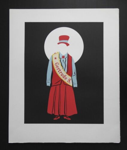 """Robert Indiana, """"Mother of Us All"""" Lithograph, Gertrude Stein"""