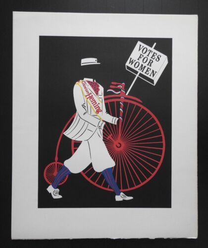 """Robert Indiana, """"Mother of Us All"""" Lithograph, Gloster Heming - Votes For Women"""