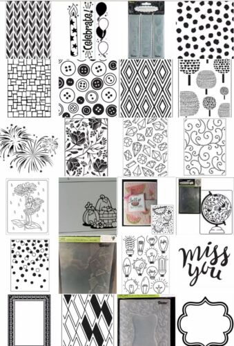 Darice Embossing Folders - ALL BRAND NEW - Choose from drop-down in listing