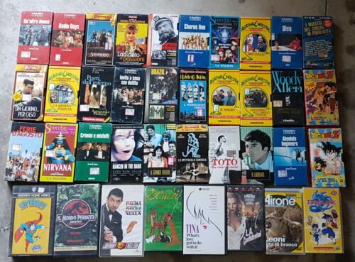 38 Videocassette VHS video cassette  lotto usate