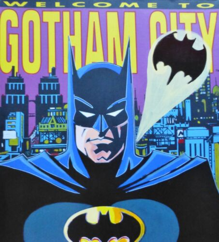 "STEVE KAUFMAN "" BATMAN "" HAND SIGNED EMBELLISHED SCREENPRINT CANVAS 34"" x 37"""