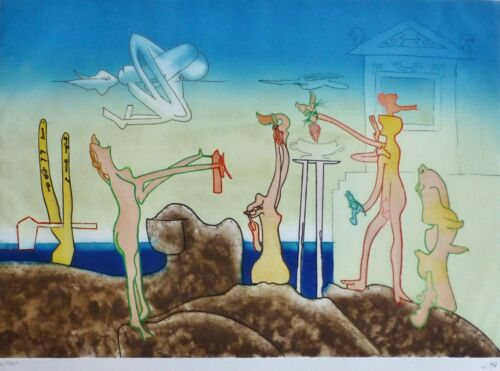 ROBERTO MATTA 12 AM L'Arc Obscure Des Heures etching/aquatint HAND SIGNED Obscur