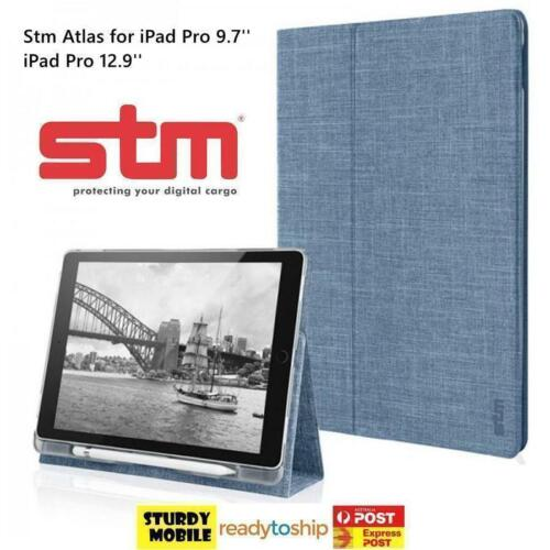 STM Apple iPad Air2 Pro 9.7 STM Atlas Canvas Case With Apple Pencil Holder Stand