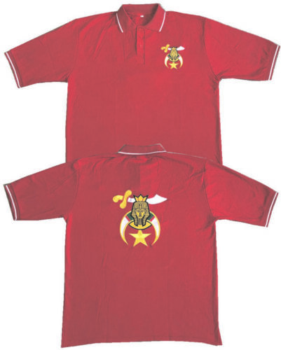 8b5f7e372a9c1 $34.95 Shriners Pique Polo Embroidered Front & Back (Red) -  (1992SHRPSRED)Other Freemason