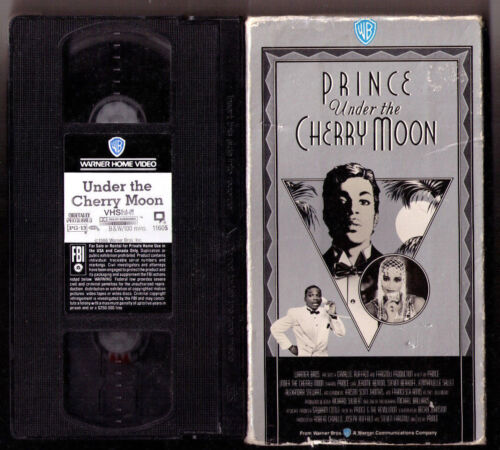 Prince Under the Cherry Moon movie 1986 VHS video tape Hi-Fi Dolby Stereo NTSC