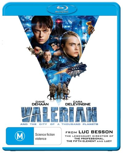Valerian and the City of a Thousand Planets Blu-ray Region B NEW