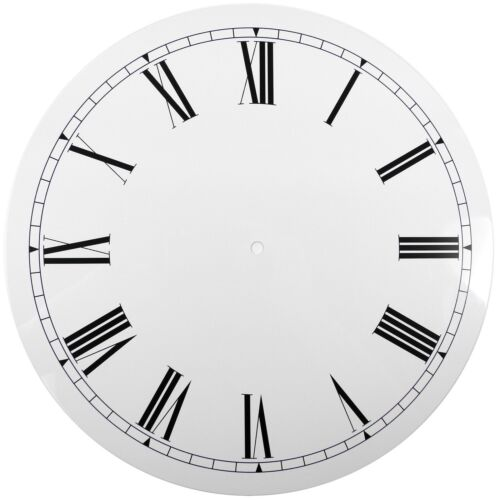 NEW White Replacement Clock Dial 12 inches 298mm Roman Numerals Clocks - CD412
