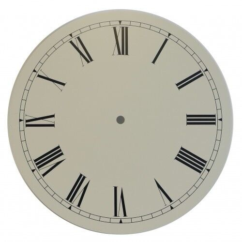 NEW Off White Antique Finish Clock Dial 12 inches 305mm Roman Numerals - CD912
