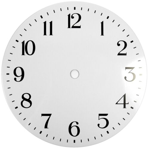 NEW White Replacement Clock Dial 7 inches 178mm Arabic Figures Clocks - CD37