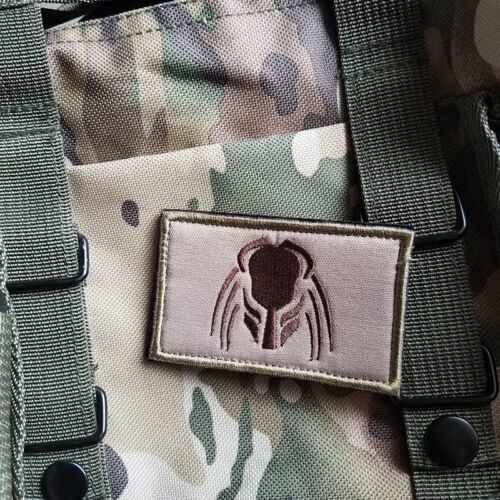 Predator Helmet  Head No Face Dutch Jungle Arnold Aliens Embroidered Hook Patch Army - 48824