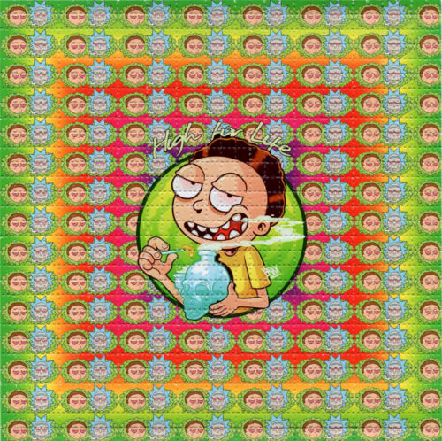 R & M Morty High For Life BLOTTER ART perforated sheet paper psychedelic art