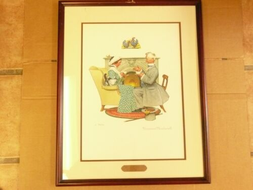 """Norman Rockwell Print Gaily Sharing Vintage Times """"Four Ages Of Love"""""""