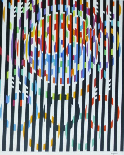 """YAACOV AGAM """"MESSAGE OF PEACE""""  HAND SIGNED SILKSCREEN from Olympic Suite 1988"""